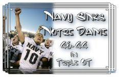 Navy beat Notre Dame. I lived to see it.