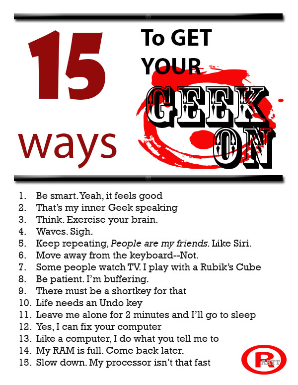 15 ways geek on