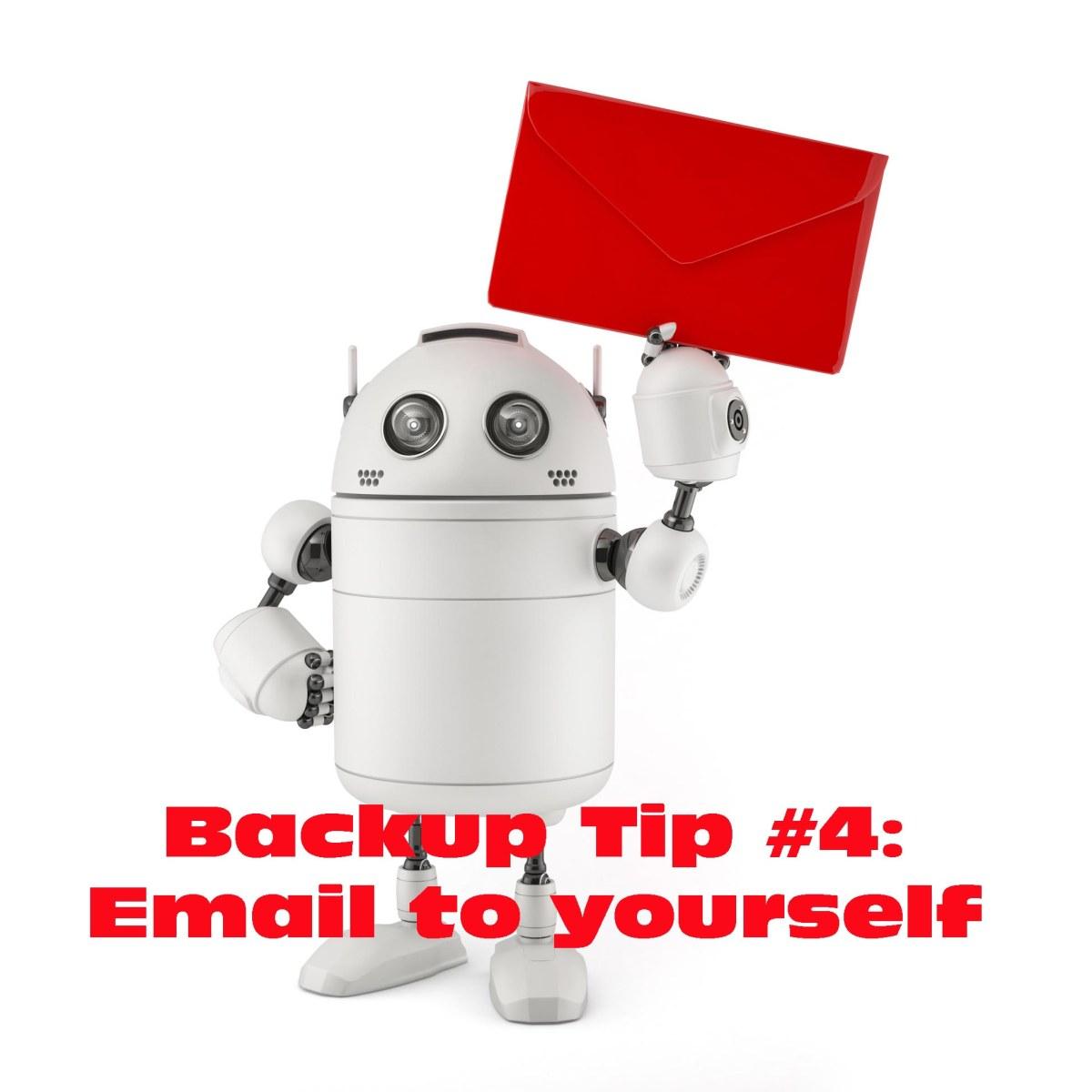 backup via email